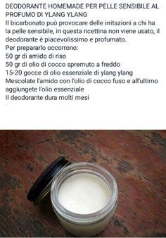 Deodorante homemade pelli sensibili al profumo di ylang ylang