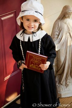 Elizabeth Ann Seton costume for All SAints' Day Catholic Kids, Catholic Saints, Catholic School, Kids Church, Patron Saints, Roman Catholic, Easy Costumes, Halloween Costumes, Halloween Movies