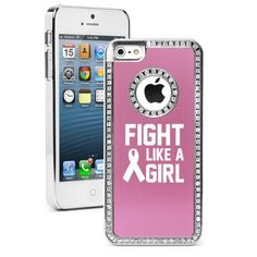 Apple iPhone 5 5S Pink 5S172 Rhinestone Crystal Bling Aluminum Plated Hard Case Cover Fight Like A Girl Breast Cancer by MIP, http://www.amazon.com/dp/B009WD8MMY/ref=cm_sw_r_pi_dp_QWetsb1EYYFJT