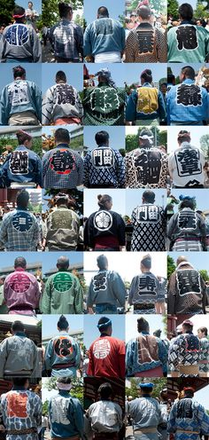氏子、宮頭、宮出し……9つのキーワードで見る三社祭2012 | nippon.com Japanese Hanten collection - Hanten was originally a traditional short coat, now worn as a Matsuri (festival) outfit in Japan.