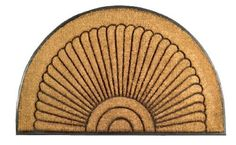 Imports Decor Half-round Rubber Back Coir Doormat, Sunrise, 18-Inch by 30-Inch by Imports Décor. $30.01. Vulcanized rubber prevents skidding. 100-percent brush coir. Measures 18-inch by 30-inch. Ideal for heavy-use traffic areas. Molded into a variety of attractive designs. Welcome your guests with this attractive rubber back coir doormat from Imports Decor. Constructed of 100-percent brush coir and molded with vulcanized rubber in a half-round sunrise design. Coir is the natura...
