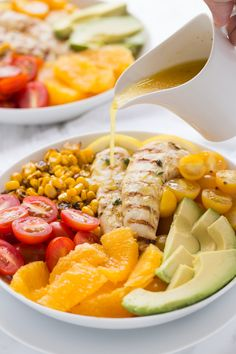 This Whole30 Chicken Salad With Orange Honey Vinaigrette is a winning combination of fresh flavors and a citrus dressing you'll love!   Paleo & Gluten Free  