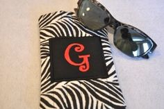 5x7 Quilted Monogram Sunglasses Case