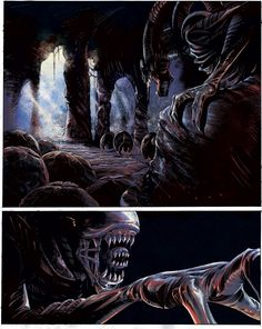 Alien - a sample page in color