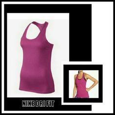NIKE PINK DRI FIT RACER BACK TOP PINK NIKE TRAINING DRI FIT RACER BACK TOP * Fabric helps keep you dry and comfortable * Scoop neck and wide armholes for a comfortable fit * Racer Back for natural range of motion * Flat seams move smoothly against skin * Made of Cotton/Polyester/Spandex Size M Like new Nike Tops Muscle Tees