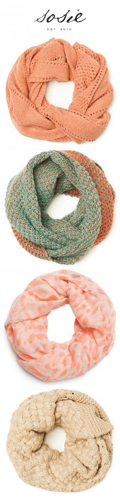 Soft Winter Infinity Scarves