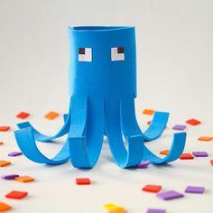 Minecraft Squid | crafts for kids