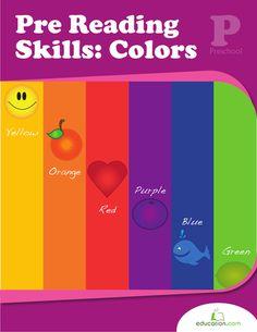 Workbooks: Pre-Reading Skills: Colors