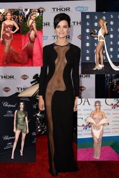 These celebrities aren't afraid to break certain style rules - especially the ones about clothing having to actually cover your body. Celebrity Dresses, Celebrity Style, Viral Trend, Unique Fashion, Fashion Tips, Celebs, Celebrities, Dress Collection, Autumn Winter Fashion