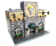 Lego Restaurant Modular Building front | Commission piece. T… | Flickr