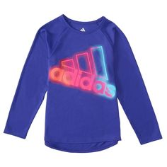 Toddler Girl Adidas Neon Lights Graphic Tee, Size: 4T, Drk Purple