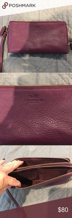 Large like new Coach checkbook wallet. Large like new Coach checkbook wallet. Perfect condition. Coach Bags Wallets
