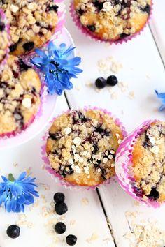 Suklaapossu: Helpot ja mehevät mustikka-murumuffinssit #muffinsit