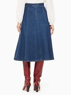 Gored Skirt, Midi Skirt, Apostolic Fashion, Skirt Outfits, A Line Skirts, Cute Dresses, High Waisted Skirt, Kate Spade, Rompers