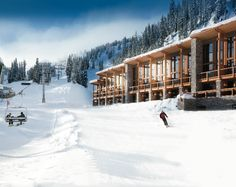 Sunshine Mountain Lodge is the only ski-in, ski-out hotel in Banff in the Canadian Rockies.