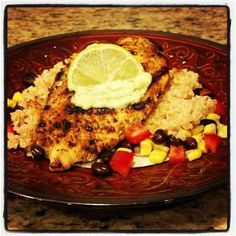 Skinny Eatz - Blackened Chicken over Cilantro- Lime Quinoa - The Kitchen Table - The Eat-Clean Diet®
