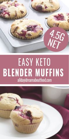 Easy Low Carb Muffins These low carb blender muffins are so easy to make. Light and fluffy and you can put anything you want in them. A versatile low carb muffin recipe for grab and go breakfasts or snacks. Best Low Carb Recipes, Low Sugar Recipes, Keto Recipes, Snacks Recipes, Chili Recipes, Dinner Recipes, Cooker Recipes, Easy Recipes, Soup Recipes