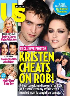 on newsstands Friday!  really?  no one should profit from this...Kristen Stewart Cheats on Robert Pattinson With Director Rupert Sanders