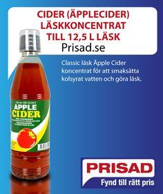 Classic läsk Äpple Cider koncentrat för att smaksätta kolsyrat vatten och göra läsk.