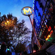 Fin de journée. #Paris #Metro #Nightfall #Sky