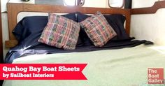 High quality boat sheets that fit and don't pull off, without the expense of one-off custom sheets.