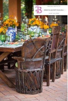 Hermosa y tradicional manera de decorar tu mesa de invitados! www.bougainvilleabodas.com.mx Bodas San Miguel