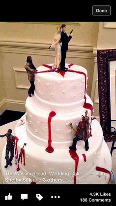 Walking Dead wedding cake