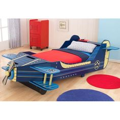 Found it at Wayfair - Airplane Convertible Toddler Bed
