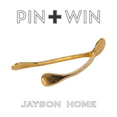 """Jayson Home Pin + Win Contest. Enter for your chance to win this Gold Wishbone.    How to enter:  1. Go to www.pinterest.com/jaysonhome and follow all Jayson Home boards by clicking """"Follow All.""""  2. Repin this product from the """"w i n n i n g !"""" board from the Jayson Home Pinterest page.    Contest ends at 4:00 pm CT on June 14, 2012. For more information visit: http://www.jaysonhome.com/customer-center/pin-and-win-contest?utm_source=Jayson+Home_campaign=Pinterest_2012_06_Contest_medium=Pi"""