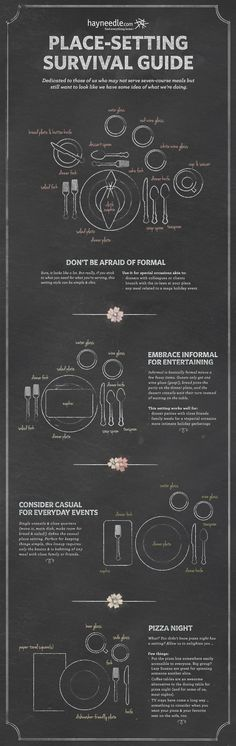 How to set the table. Hahahahaha Logan look what I found to help! Place Settings, Table Settings, Dining Etiquette, Etiquette And Manners, Table Manners, Survival Guide, Things To Know, Home Gifts, Tablescapes