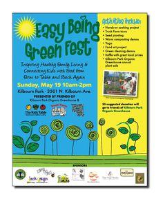 The Kids' Table - Non-profit Green Fest flyer