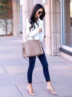 Skinny jeans and heels ❤️ Match made in heaven❤️ Styleupgirl for all your heels
