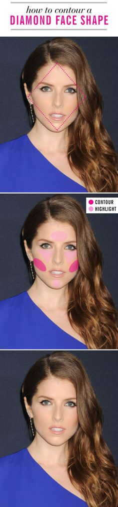 Use this contouring makeup map and these makeup artist tips to find the most flattering way to contour for your face shape in Makeup Artist Tips, Makeup Tips, Beauty Makeup, Hair Makeup, Hair Beauty, Makeup Stuff, Makeup Products, Makeup Ideas, Eye Makeup