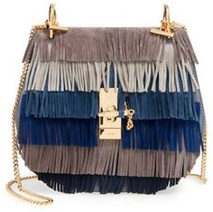 Chloé 'Drew' Suede Fringe Crossbody Bag - If you've been holding out for the perfect fringed suede bag for fall, this iteration of the popular Drew crossbody from Chloé is sure to please. With its tiers of fringe in gorgeous colors, chic saddle bag silhouette and distinctive knotted chain strap, this bag is a modern classic.