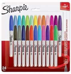 Sharpie Card 24 Asst Fine Markers Electro Pop FREE P/&P New