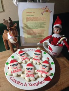 Our elf on the shelf departure 2014 #bennetttheelf #jackthereindeer