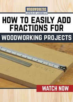 Adding fractions can be frustrating, but it's a necessary evil in woodworking (At least until we change to the metric system). Here's a really fast and easy way to add fractional measurements, without even doing any math. All it takes are a couple of rulers. Use them the right way, and you can direct read the answer. Easy peezy.