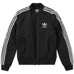 Adidas MA-1 Padded Jacket (2.060 NOK) ❤ liked on Polyvore featuring outerwear, jackets, padded jacket, adidas jacket and adidas