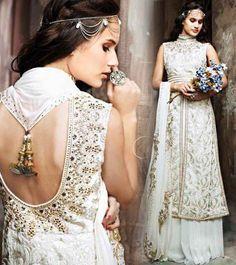Elegance in White Anarkali