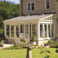 Lean-to Conservatory Extension Conservatory Extension, Stone Cottage, Sunroom Kits, House With Porch, Conservatory Design, Sunroom Designs, Balcony Decor, House, Atrium Design