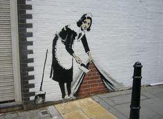 Banksy - England - The Beauty of Stencil Art Banksy Graffiti, Stencil Graffiti, Stencil Street Art, Graffiti Artwork, Stencil Art, Street Art Graffiti, Stencils, Bansky, Graffiti Names