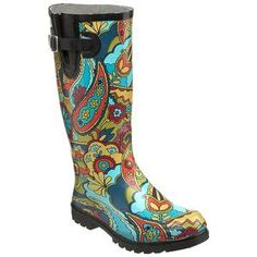 Teal Paisley Nomad Puddles Boots at Seasons by Design specialty shop, 2605 Ford Drive, New Holstein, WI 53061. 920-898-9081 follow us on Facebook seasonsbydesigngifts@yahoo.com