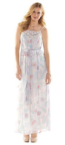 LC Lauren Conrad Crochet Crinkle Maxi Dress - Women's