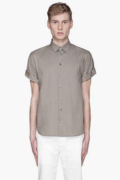 3.1 PHILLIP LIM Olive dolman sleeve button-up shirt