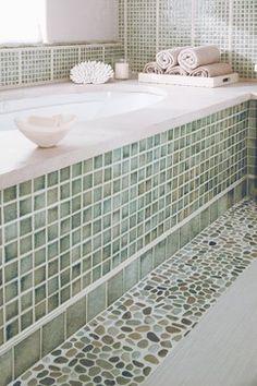 Sunderland Brothers Company - modern - Bathroom - Omaha - Sunderland Brothers Company. THE PEBBLE TILES