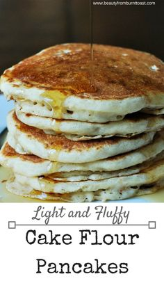 Pancakes get a makeover with cake flour to create the fluffiest, lightest breakfast treat your whole family will love. Wonderfully sweet and light, these pancakes take a fun twist on a classic and bring smiles to the faces of your entire family. Brunch Recipes, New Recipes, Breakfast Recipes, Breakfast Ideas, Delicious Recipes, Pancake Recipes, Crepe Recipes, Breakfast Dishes, Brunch Ideas