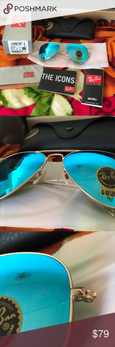 Brand new ray ban rb3025 aviator sunglasses I'm selling a pair of ray ban size 58mm glasses. They come with everything shown on the first picture. They're 100% authentic so buy with confidence! Thanks for looking Ray-Ban Accessories Sunglasses