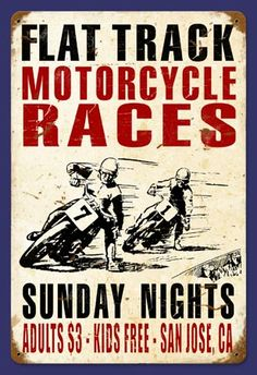 vintage motorcycle race poster - Google 検索
