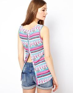 A Wear Split Back T-Shirt In Mexicana Print