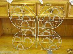 £10.44  BIN Shabby Chic Wire Butterfly Memo Notice Board Card Photo Holder Gisela Graham
